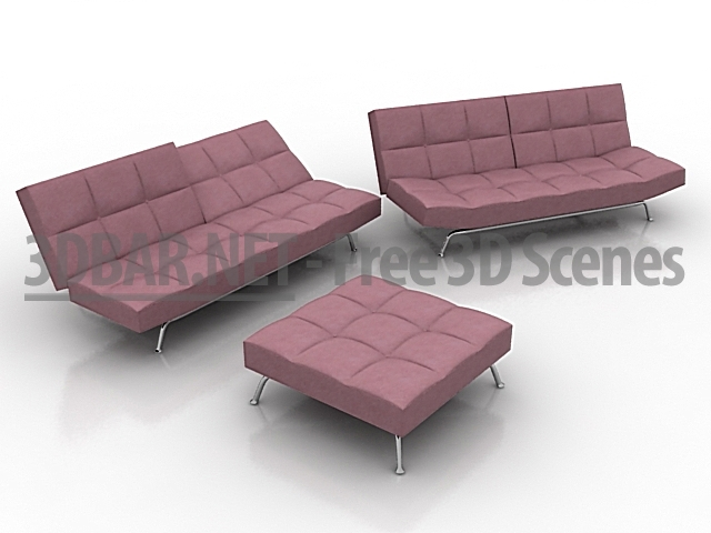 3d bar free 3d scenes 3d models 3d collections daily update sofa ligne roset smala. Black Bedroom Furniture Sets. Home Design Ideas