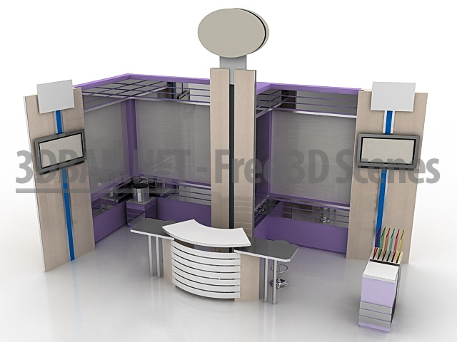 Exhibition Stand 3d Model Free : D bar u free d scenes d models d collections u daily update