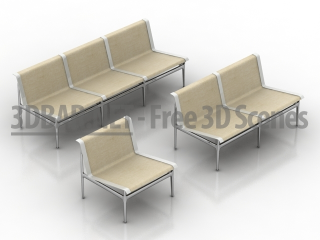 3d models outdoor furniture from bb italia swell seating