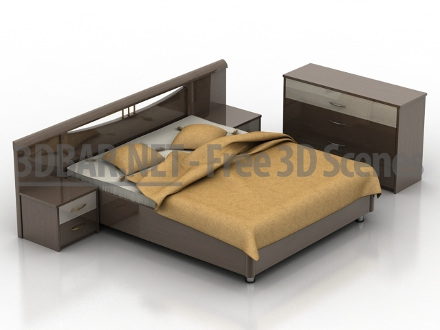 3d bar free 3d scenes 3d models 3d collections for Concept beds