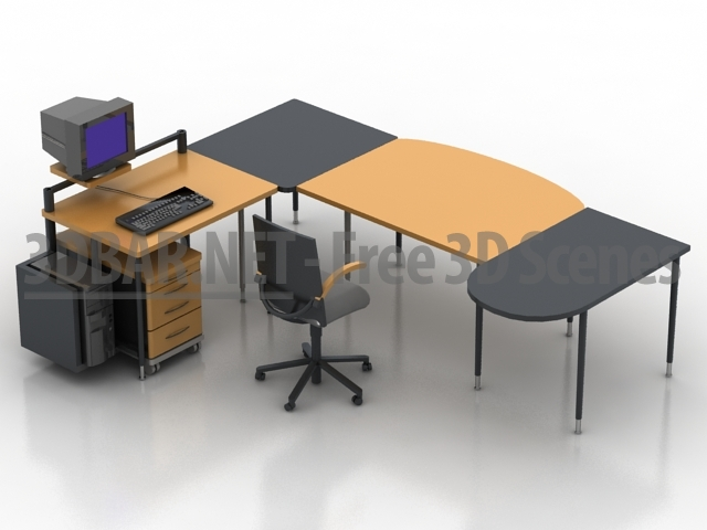 office table models. Interesting Table Furniture 3d CSets C001 Office Table Armchair 3D Collection For Models